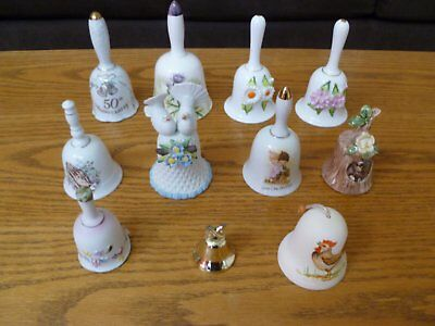 Lot of 11 Decorative Bells Various Brands and Sizes