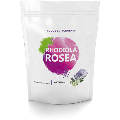 Rhodiola Rosea (Rosavin/Salidrosides) | 200mg Tablets | Improves Energy and Mood
