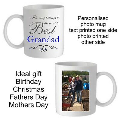 Personalised Christmas Gift Photo Mug Grandad Uncle Daddy Dad Brother Birthday