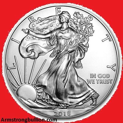 2018 1oz Silver American Eagle Bullion Coin. New/Uncirculated