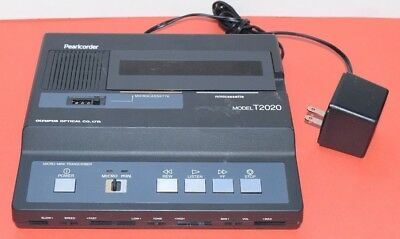Olympus Pearlcorder T2020 Microcassette & Minicassette Dictation Machine