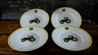"JOHN DEERE SALAD PLATE 9"" SET OF 4 by GIBSON"