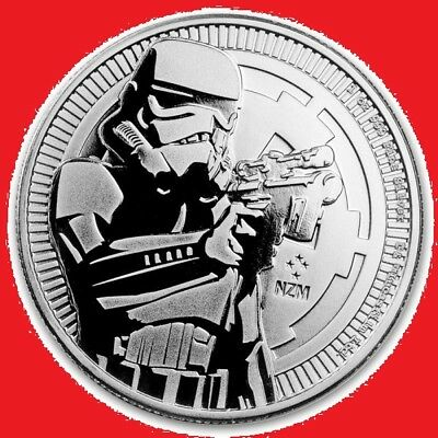 2018 1oz Silver Niue Stormtrooper Bullion Coin. New/Uncirculated