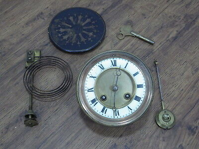 Antique Medaille D'argent Clock Movement Striking And Complete / Working