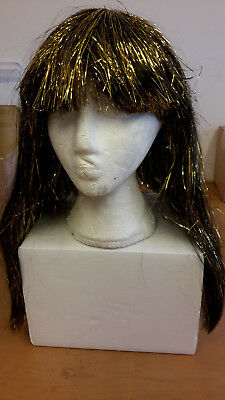 Black and gold Egyptian goddess Cleopatra costume wig
