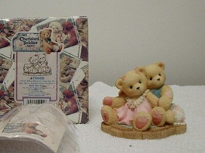 "Cherished Teddies ""RUTH AND GENE"" WE'RE ALWAYS HEART TO HEART--"