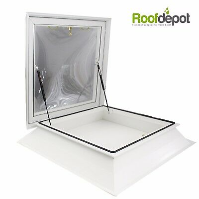 Access Hatch Roof Light & Upstand, Opening Dome Skylight Window For Flat Roofs