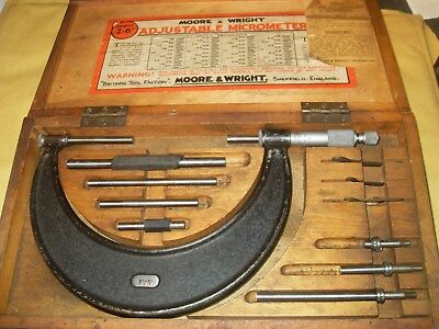"""Moore & Wright No.942 2 - 6"""" Adjustable Micrometer - As Photo"""