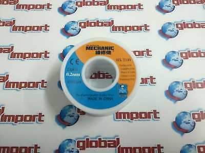 STAGNO Mechanic Diametro 0.2 mm 50 gr Rocchetto Bobina Filo Saldature Saldare