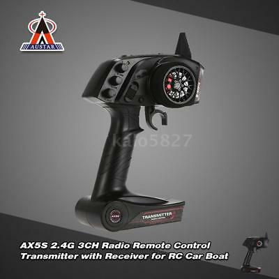 NEW AUSTAR AX5S 2.4G 3CH AFHS Radio Transmitter with Receiver for RC Car S4G5
