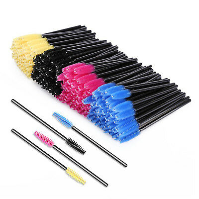 200pcs Eyelash Brushes Set Silicone Head Disposable Mascara Wands Lash Extention