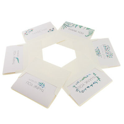 6 sets wedding greeting message invitation card thank you card with
