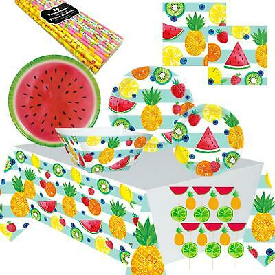 Fruit Salad Picnic BBQ Birthday Tropical Luau Pineapple Melon Summer Party Ware