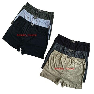 3/6/12 Mens Plain Assorted Colors Cotton Jersey Boxer Shorts in Size Small - 6XL
