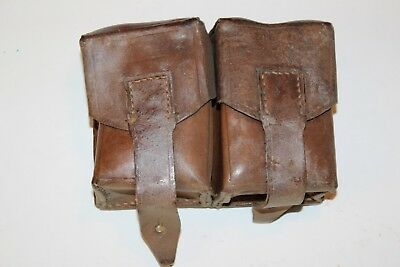 K98 Leather military mauser ammo pouch double pocket 8mm Y7