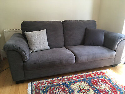 Nearly New Large Comfy 3 Seater IKEA Tidafors Sofa In Attractive Blue/Grey