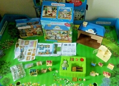 sylvanian families boxed toy shop - sealed accessories,&  boxed toy maker set