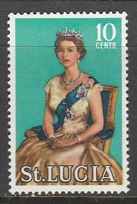 1964 ST LUCIA 10c BADGE SG 203 M/MINT