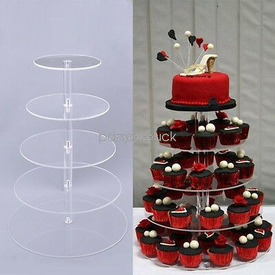 3-5 Tier Cake Stand Birthday Wedding Party Cupcake Tower Display Holder Decor SP