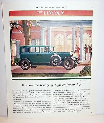 1930 the Lincoln 4 door ad The Standard Limousine