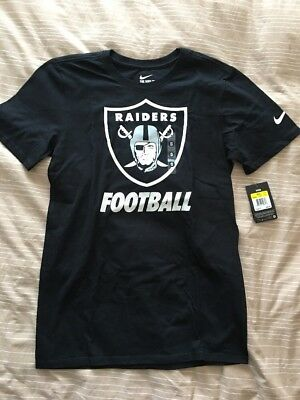 Oakland Raiders Nike Facility Tee Shirt New Small Black White NFL Football c214eab54