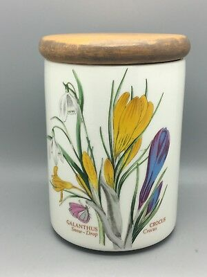 Portmeirion Botanic Garden Galanthus Snow-Drop & Crocus Pattern Lidded Jar