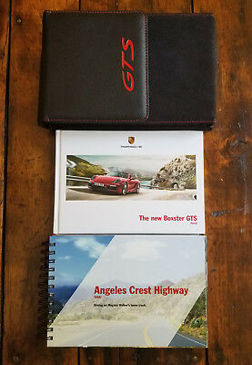 New Porsche Boxster Gts Purist Promotional Booklet In Collectible Leather Case !