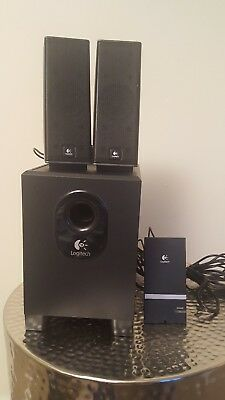 Logitech X-240 Computer Speakers - Good Working Condition
