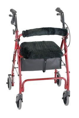 Rollator Walker Seat & Back Cover Style Medical Mobility Equipment Black New
