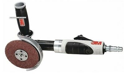 """New 3M 4"""" or 4-1/2"""" 1 HP Air Pneumatic Extended Angle Grinder 3/8""""-24 Spindle"""
