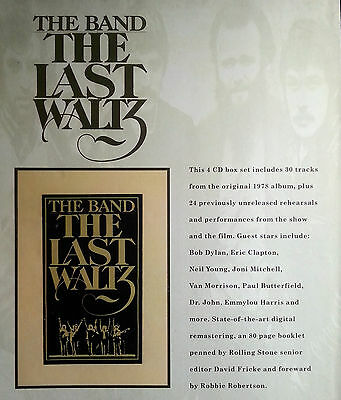 The Band Advert Poster The Last Waltz Not Reprint Very Rare