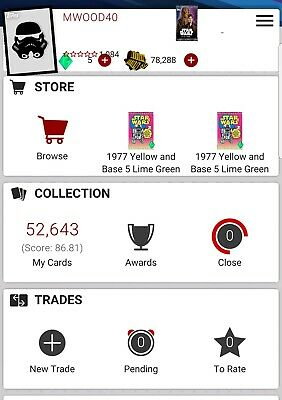Topps Star Wars Card Trader Take any 9 cards! Digital Card!! Over 50,000 Cards!!
