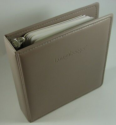 Longaberger Franklin Covey 7-Ring Compact Daily Planner Binder Beige Taupe