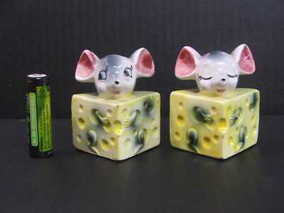 Pair of Mice in the cheese Salt and Pepper shakers