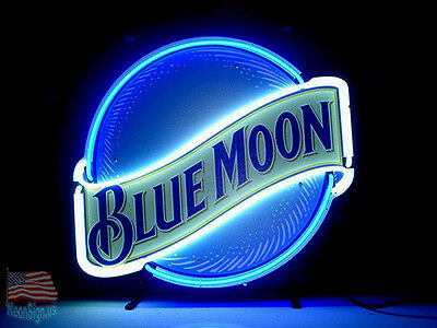 Blue Moon Neon Sign 20''x16'' From USA