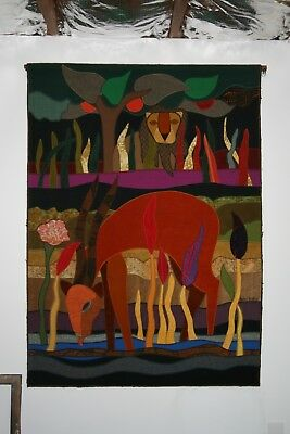 Vintage Helen Webber Collage Tapestry Extra Large Wall Art