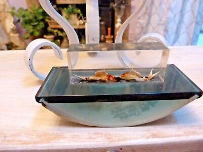 ROCKER BLOTTER Vintage Lucite AQUARIUM Sail Fish