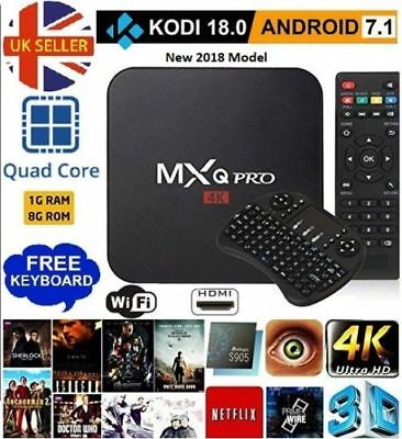 MXQ Pro 4K TV BOX Kodi 18.0 Quad-Core S905W Android 7.1 1G+8G Wifi + Keyboard CA