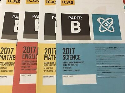 ICAS Past Papers - Year 2 to year 10 - Any 5 Papers $4