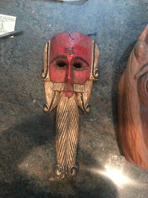 Japanese Wood Carved Face Mask its A Large Mask
