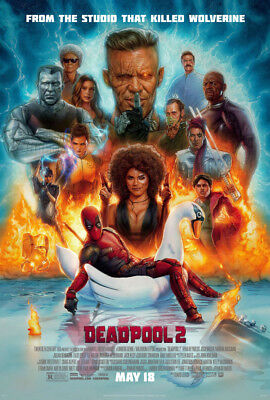 DEADPOOL 2 MOVIE POSTER 2 Sided ORIGINAL FINAL BUS SHELTER 48X70 RYAN REYNOLDS