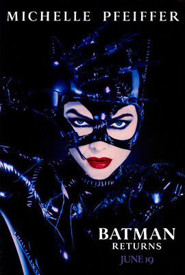 Batman Returns (1992) original movie poster advance version C - s-sided - rolled