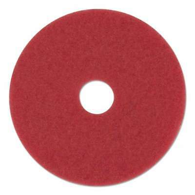 "Boardwalk® Standard Buffing Floor Pads, 12"" Diameter, Red, 5/Cart 749507986195"