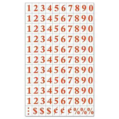 MasterVision® Interchangeable Magnetic Characters, Numbers, Red,  560375065740
