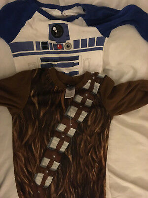 Star Wars Chewbacca and R2-D2 sleeper pajama Used 18 months