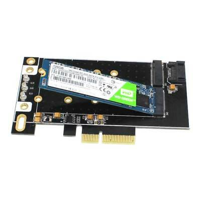 Dual M.2 NGFF PCIe x4 SATA Expansion Card Desktops Laptops SSD Flash Memory