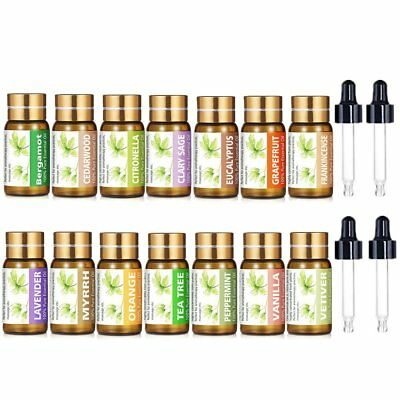 KIUNO ESSENTIAL OILS SET Of 14 100% Pure Natural Aromatherapy kit 5mL Gifts Box