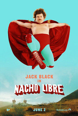 Nacho Libre (2006) original movie poster advance version B - d-sided - rolled