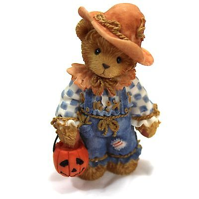 Cherished Teddies Tom Scarecrow 884588 Your Smile Is A Treat Halloween Figurine