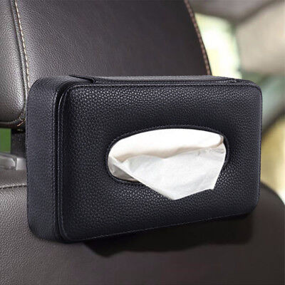 2X Leather Car Back Seat Storage Organizer Tissue Holder Bag cover paperr case